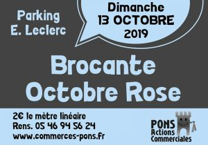 Pons - Brocante Octobre rose - Pons Actions Commerciales