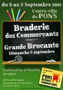 Pons Actions Commerciales - Braderie Brocante Septembre 2019