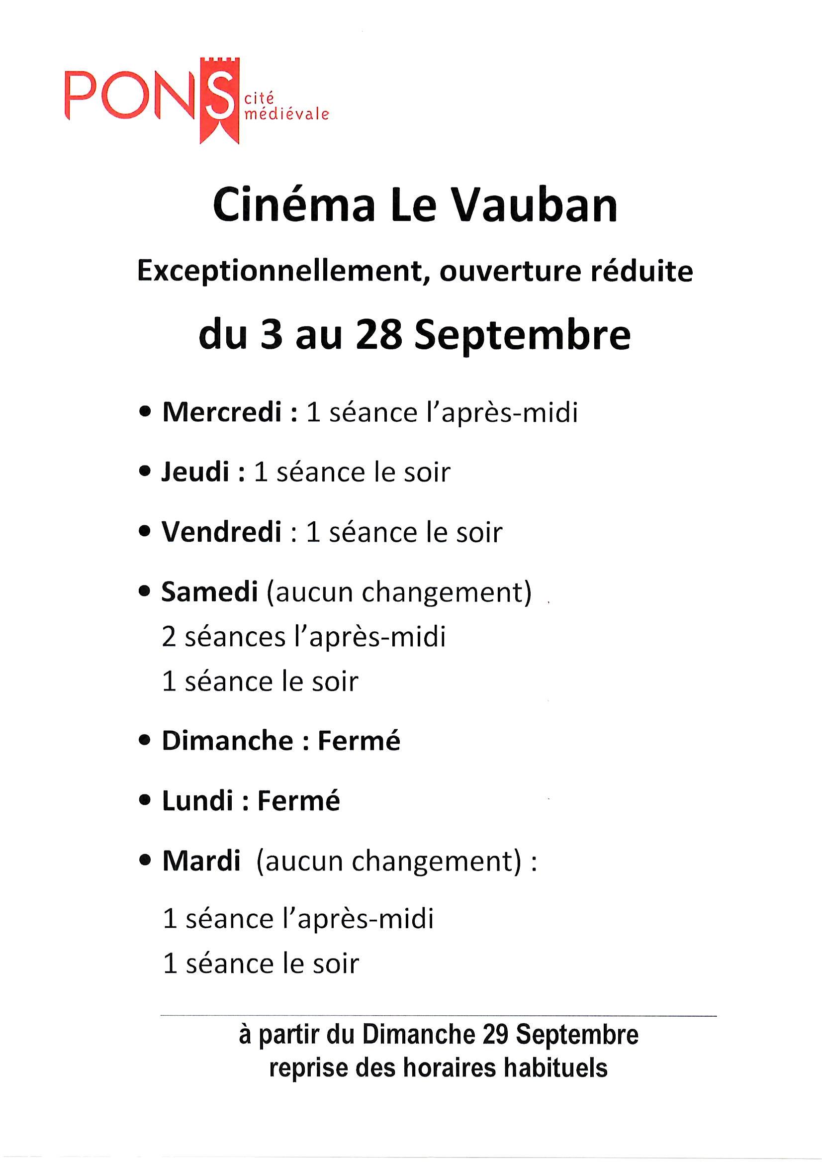 Ville de Pons - Cinéma Le Vauban