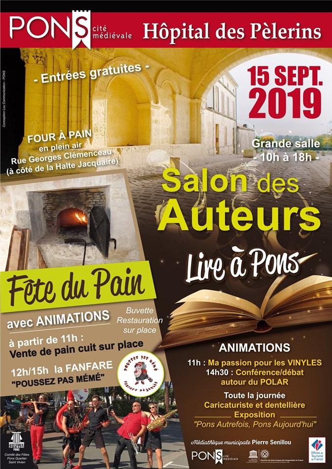 Fête du pain - salon des auteurs - Pons septembre 2019
