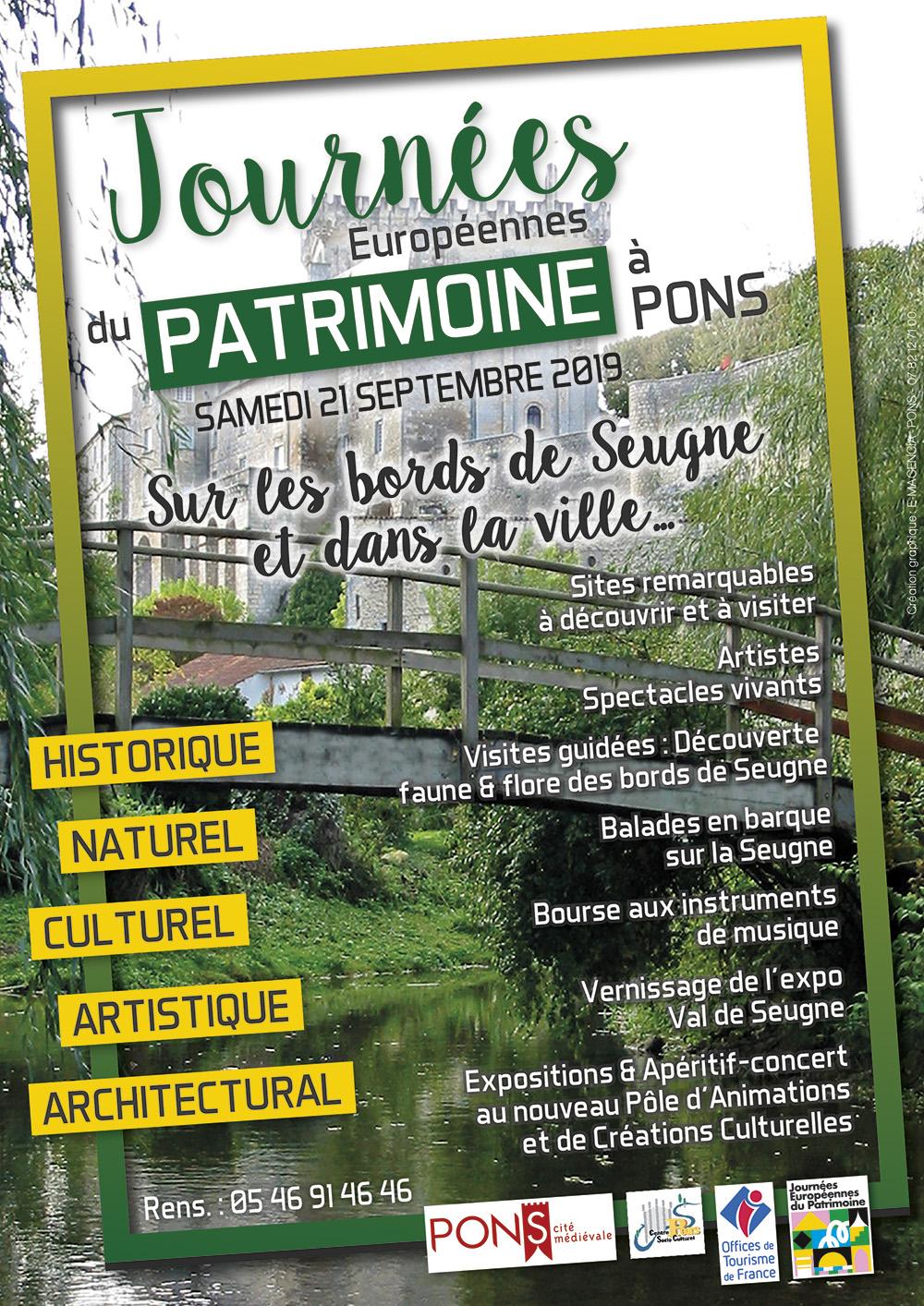 Journées du patrimoine à Pons - 21 septembre 2019