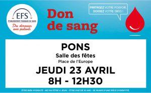 pons don du sang 13 avril
