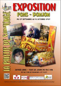 Exposition peinture La Palette de Saintonge - Donjon de Pons - Octobre 2020