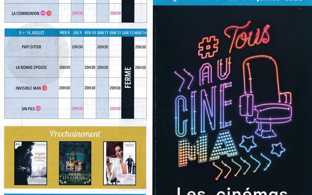 Cinéma : le programme au 1er juillet !