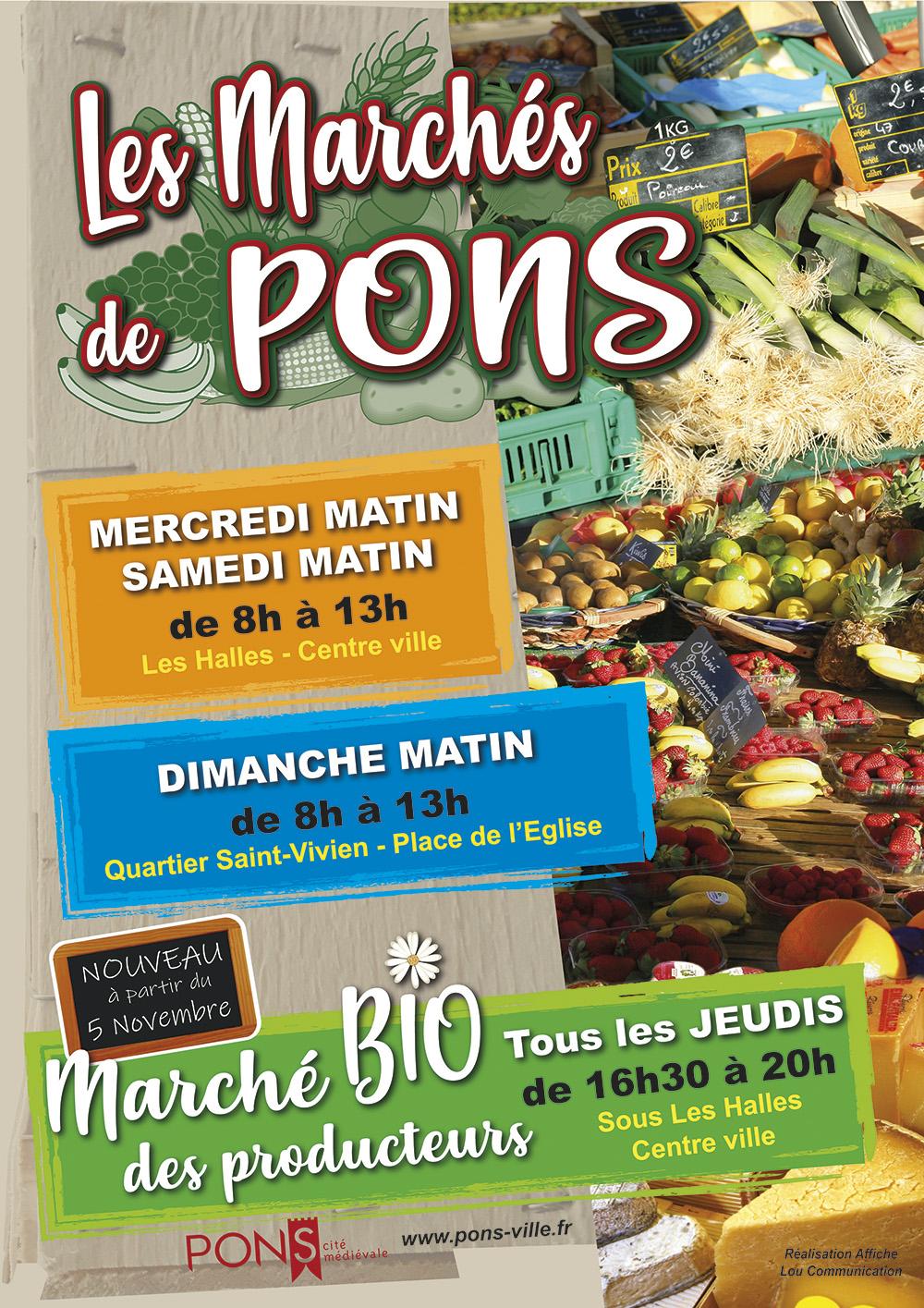 Marchés à Pons - Marché bio