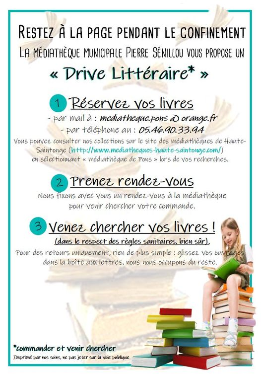 Médiathèque Pons - Drive littéraire