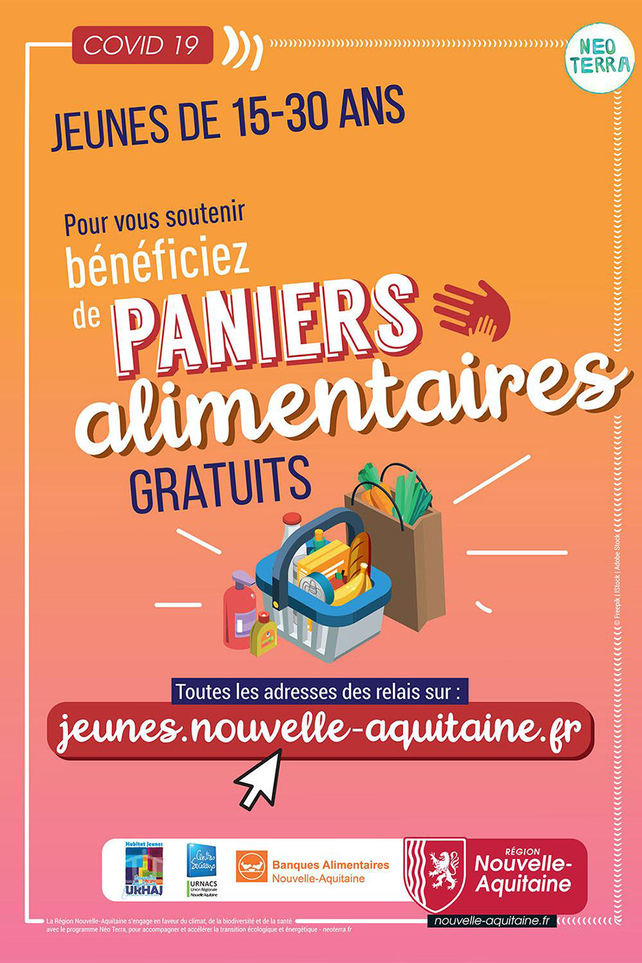 Paniers alimentaires-affiche