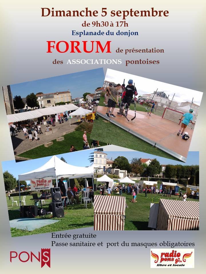 Forum des Associations de Pons - 5 septembre 2021