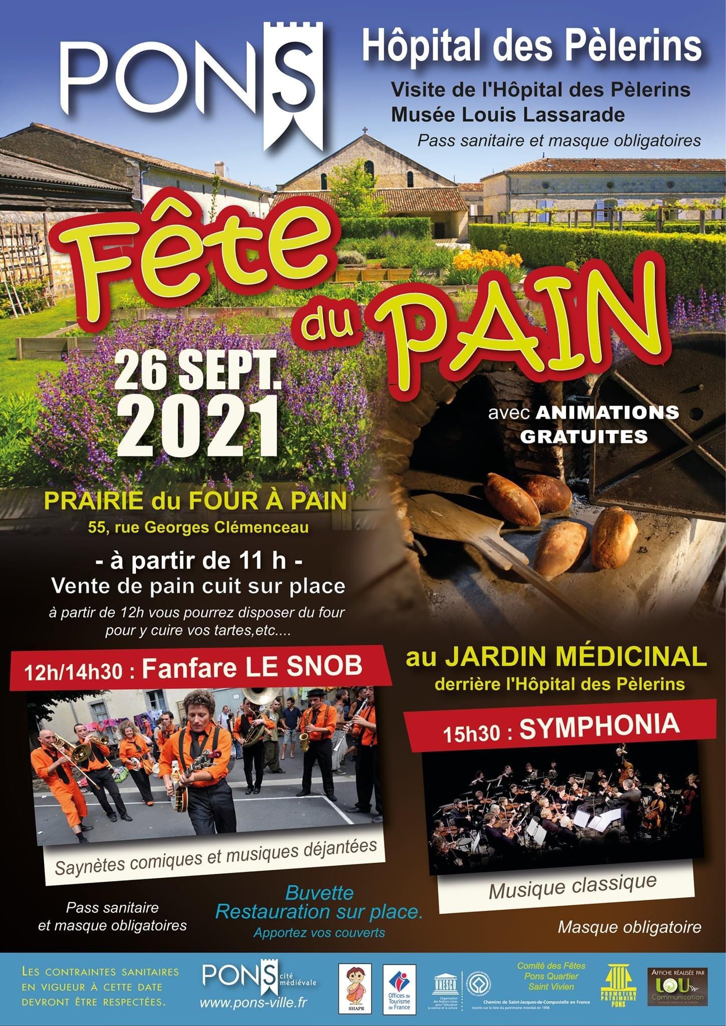 Fête du pain à Pons - 26 septembre 2021