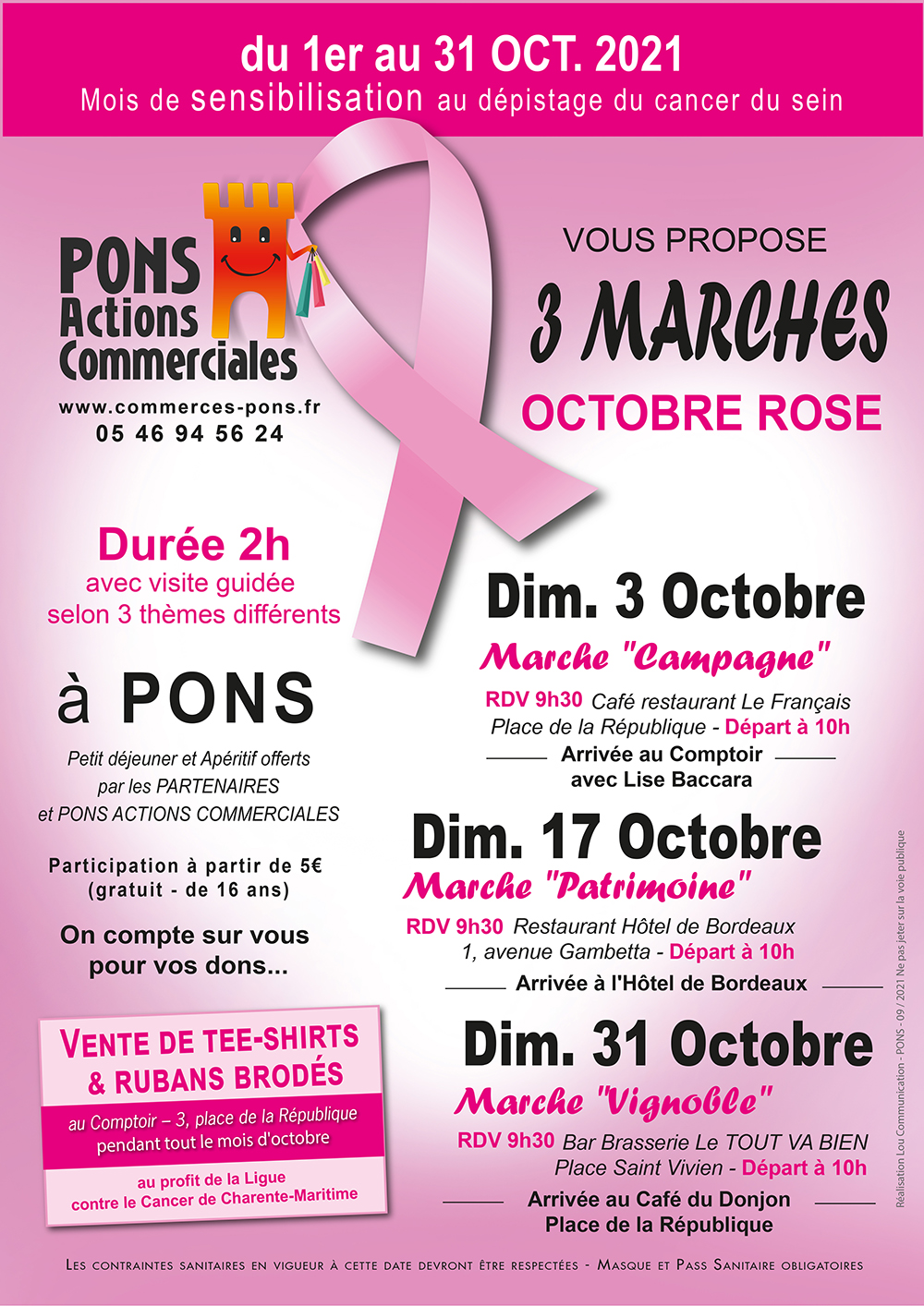 Octobre rose 2021 - Pons Actions Commerciales