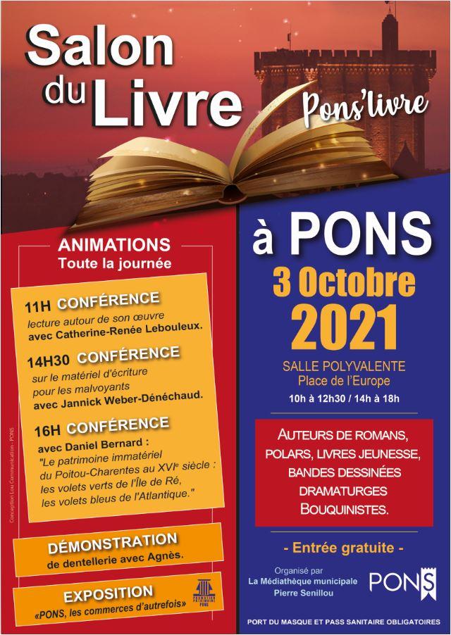 Pons - Salon du livre - 3 octobre 2021