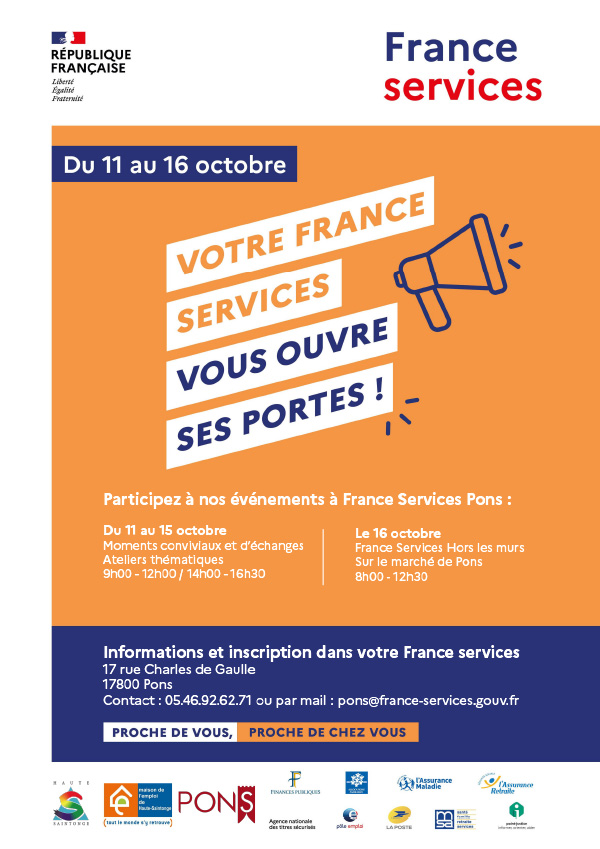 Portes-ouvertes Maison France Services à Pons - octobre 2021